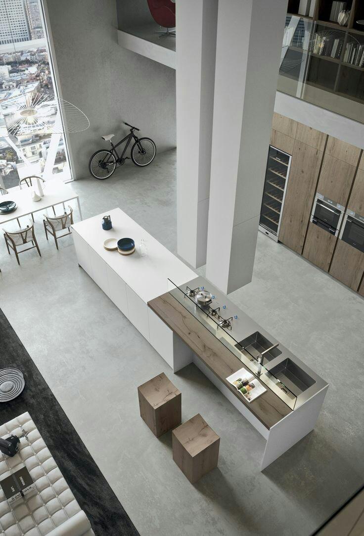 Cocinas abiertas en viviendas de espacios pequeños_3