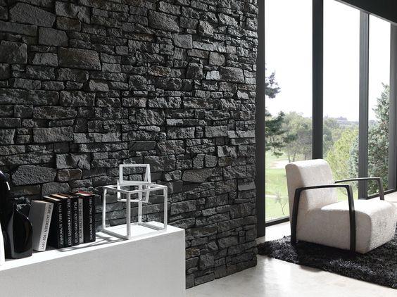 Materiales la pizarra en el dise o de interiores sonia for Revestimiento paredes interiores pizarra