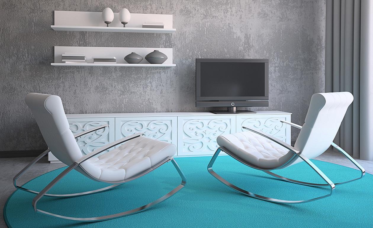 decoración azul turquesa