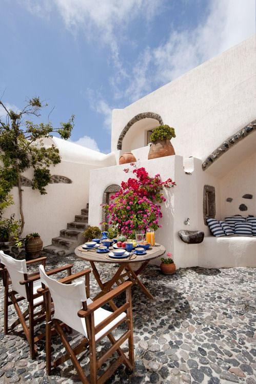 terraza estilo meditteráneo