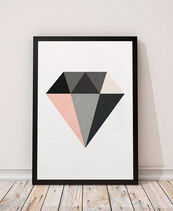 estilo geometrico arte pared