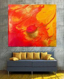 decorar tu casa en primavera Amarillo, rojo y naranja.