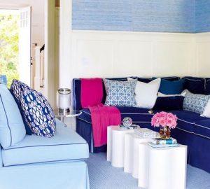 decorar tu casa en primavera Color Azul Navy, Turquesa y Rosa.