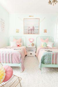 decorar tu casa en primavera Verde menta y rosa.
