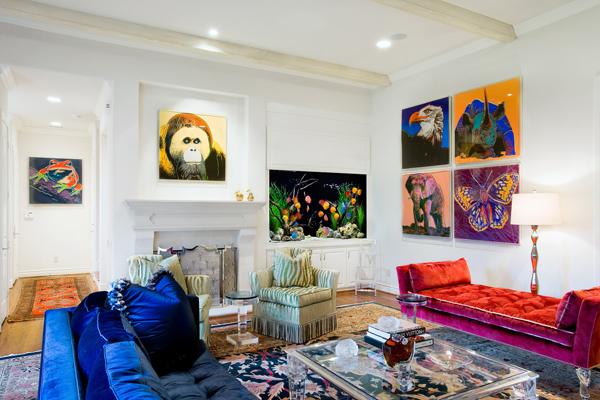 arte en diseño de interior
