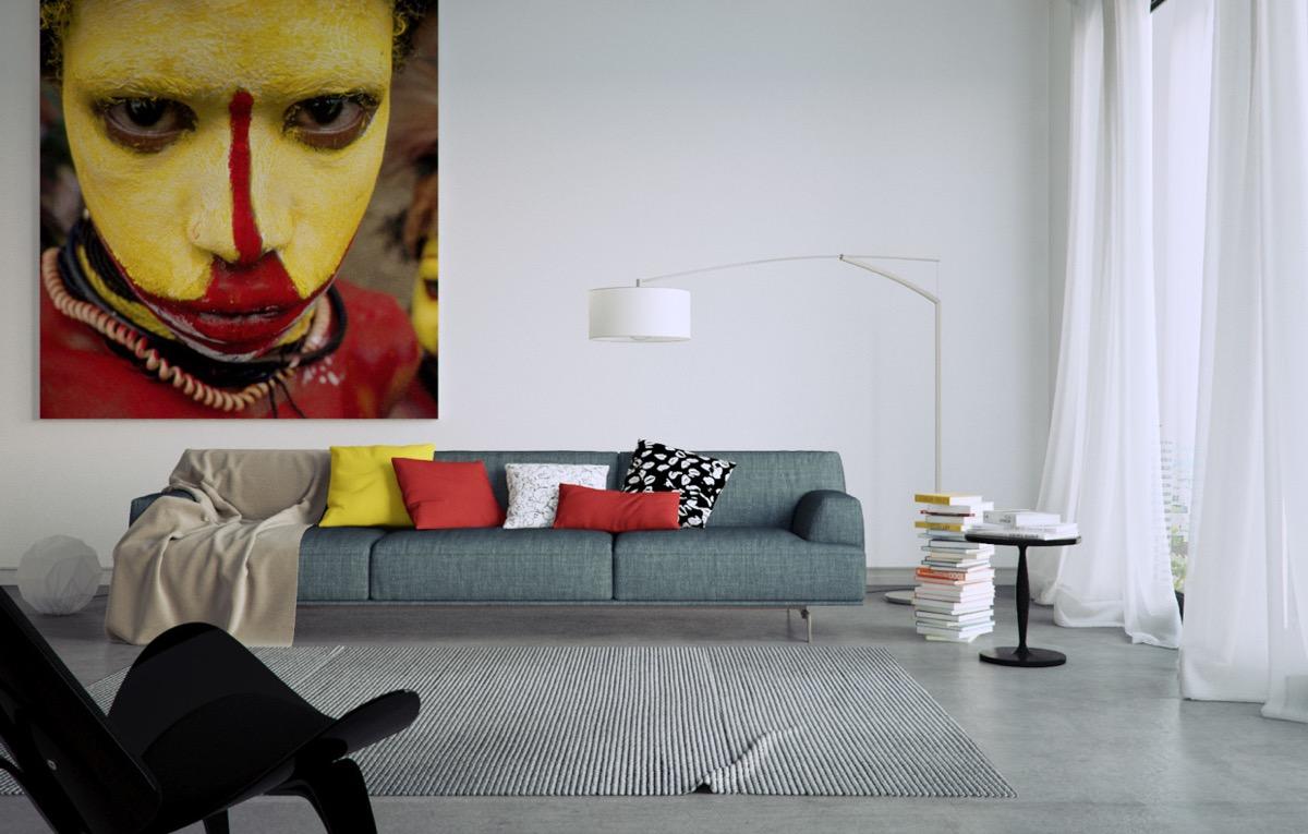 arte en el diseño de interior